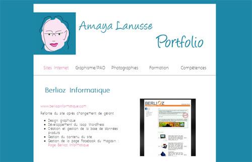amaya lanusse  int u00e9grateur web  web designer